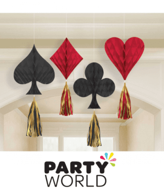 casino honeycomb hanging decorations