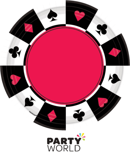 casino themed paper plates