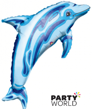 dolphin shaped foil balloon