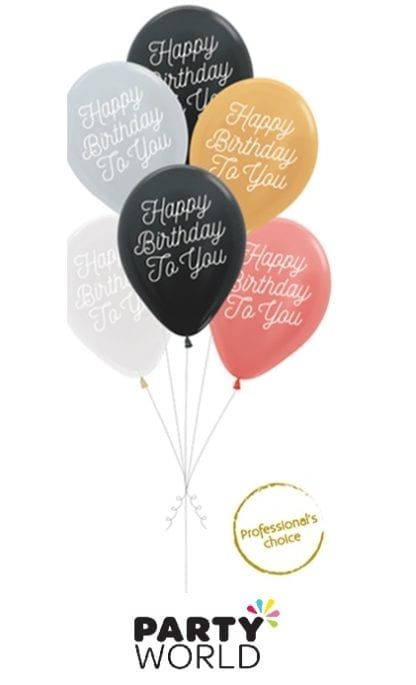 happy birthday to you balloons