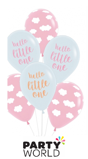 hello little one balloons girl
