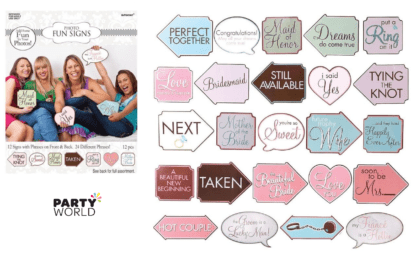 hens party engagament party photo fun signs