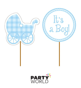 its a boy pram cupcake picks