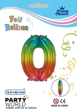 jelly rainbow number balloon 0