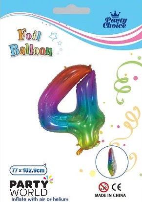 jelly rainbow number balloon 4
