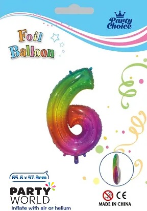 jelly rainbow number balloon 6