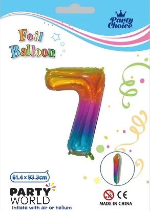 jelly rainbow number balloon 7