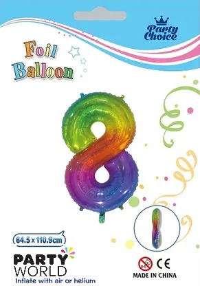 jelly rainbow number balloon 8
