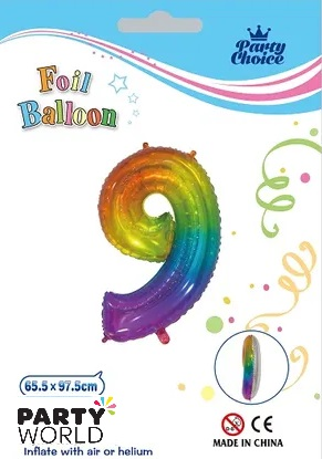 jelly rainbow number balloon 9