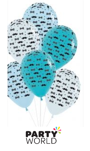 moustache and bow tie balloons