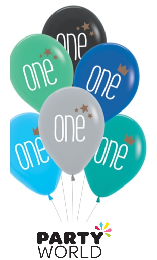 one birthday balloons boy