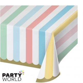 pastel celebration paper tablecover
