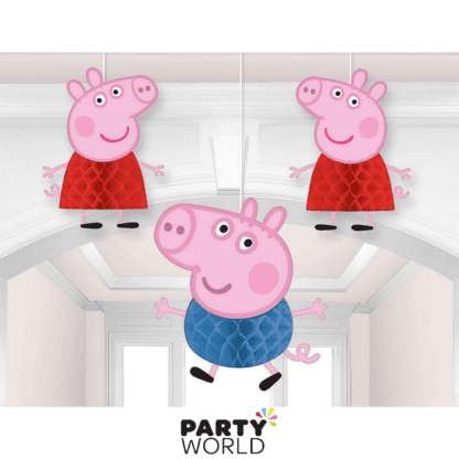 peppa pig honeycomb decorations
