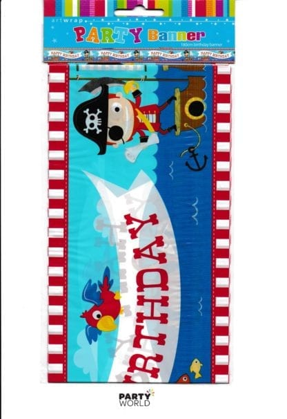 pirate party birthday banner
