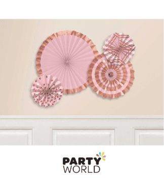 rose gold & blush hanging fans