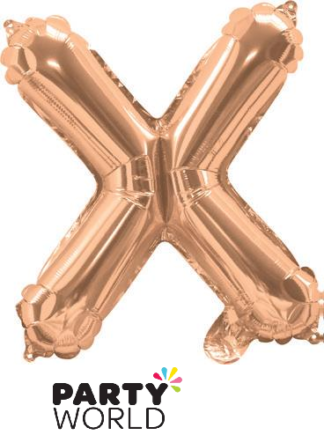 rose gold letter balloon - x