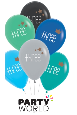 third birthday balloons