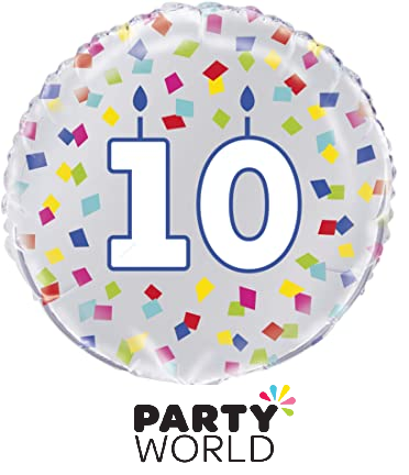 10th birthday balloon