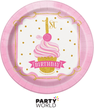 1st birthday paper plates small