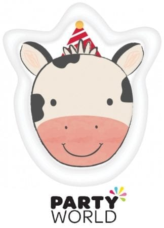Barnyard Birthday Cow Shaped Paper Plates (8)