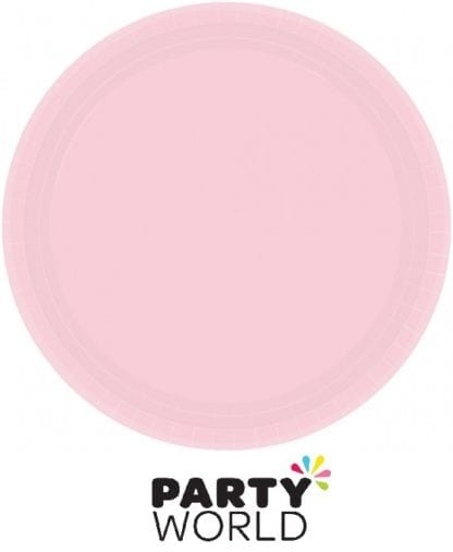Blush Pink Paper Round Plates 7in (20)