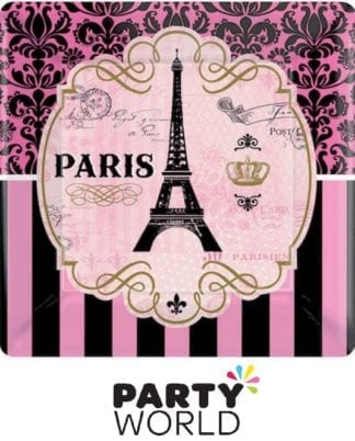 Day In Paris Square Paper Plates (8)