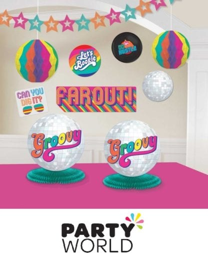 Disco Party Good Vibes 70's Room Decorating Kit