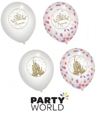 Disney Princess 30cm Confetti Filled Latex Balloons (6)