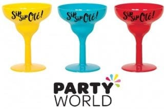 Fiesta Party Margarita Plastic Shot Glasses (6)