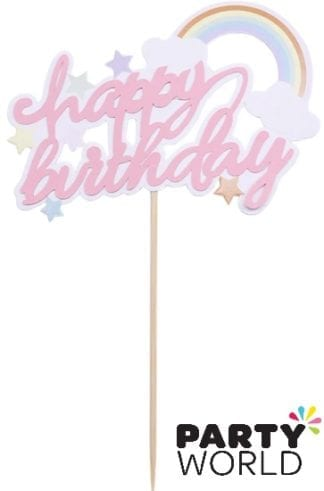 Happy Birthday Rainbow Cake Topper