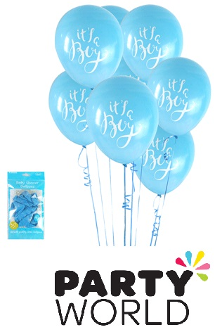 Its A Boy Blue Baby Shower Latex Balloons (6)