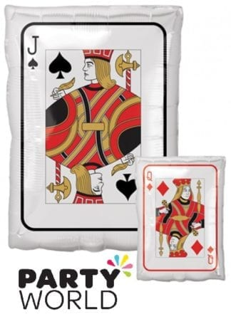 Jack And Queen Playing Card Shaped Foil Balloon