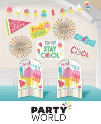 Just Chillin Beach Party Room Decorating Kit