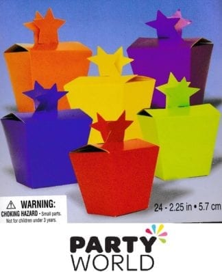 Party Treat Boxes Assorted Colours (24)