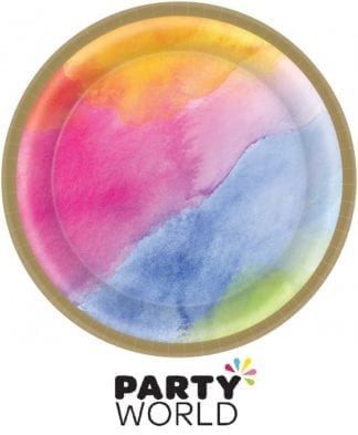 Rainbow Dream Colours Paper Lunch Plates (8)