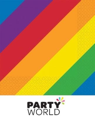 Rainbow Party Beverage Napkins (16)
