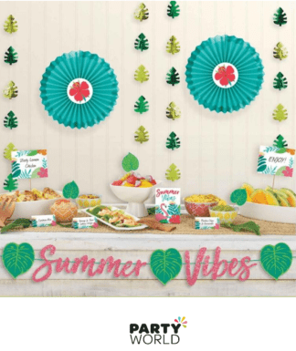SUMMER VIBES DECORATING KIT TROPICAL