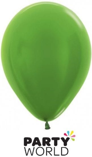 Sempertex 5inch Metallic Lime Green Mini Balloons (50)