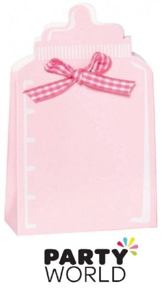 Its A Girl Pink Bottle Shaped Favour Boxes Kit (24)