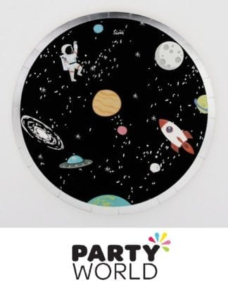 Space Party Large Round Paper Plates (12)