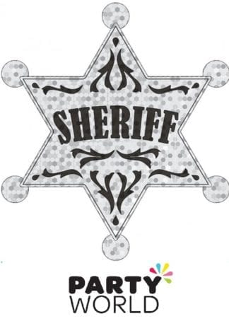 Western Large Silver Sheriff Badge