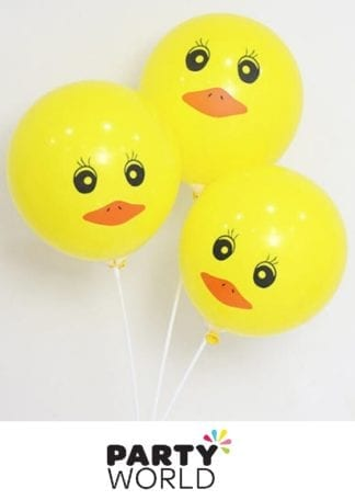 Yellow Rubber Duck Latex Balloons (20)