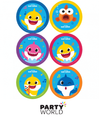 baby shark party stickers