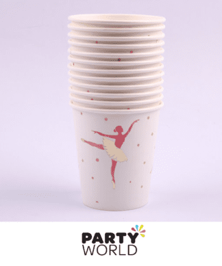 ballerina party paper cups