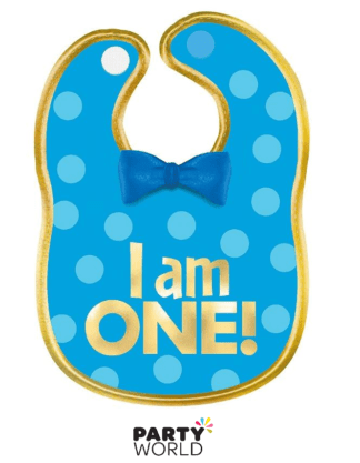 blue & gold bib