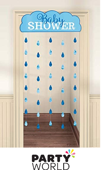 boy baby shower hanging decoration curtain