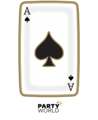 casino themed plates card shape
