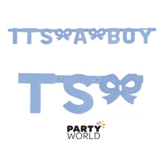 its a boy baby shower banner blue