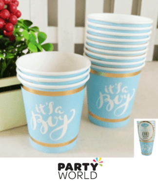 it's a boy paper cups