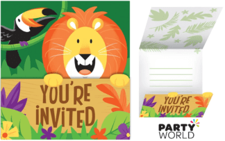 jungle safari party invites